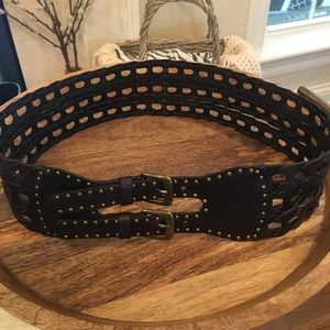 Nicole Miller Double Buckle Belt - L